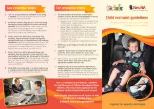 Restraint guidelines brochure | kidsafe Australia